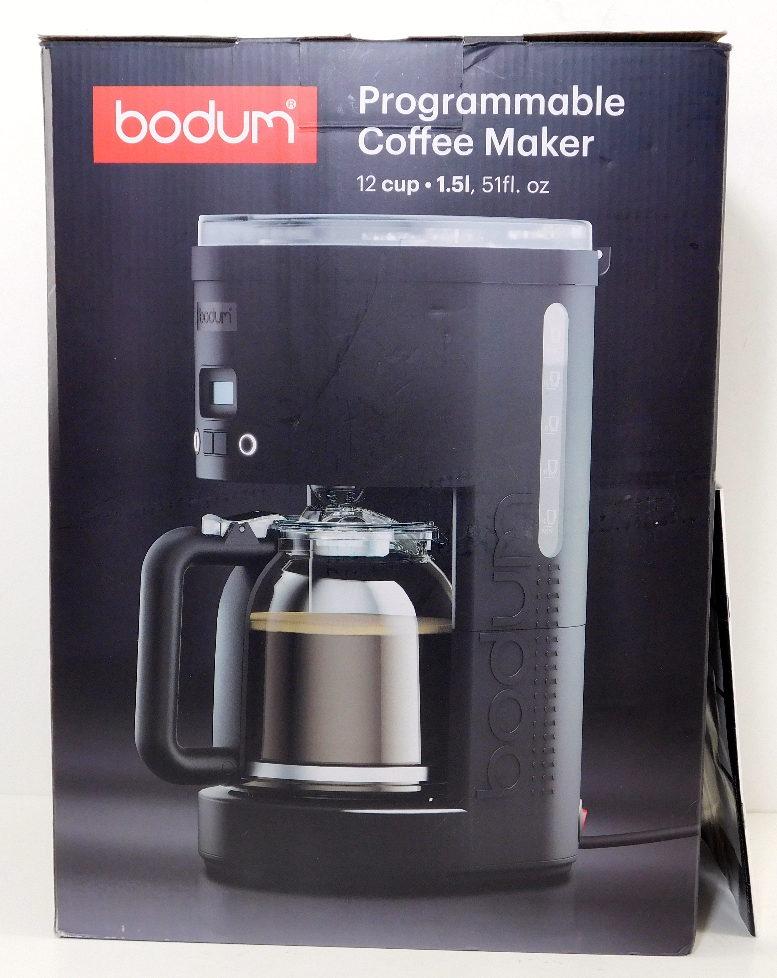 bodum bistro 12 cup programmable coffee maker manual