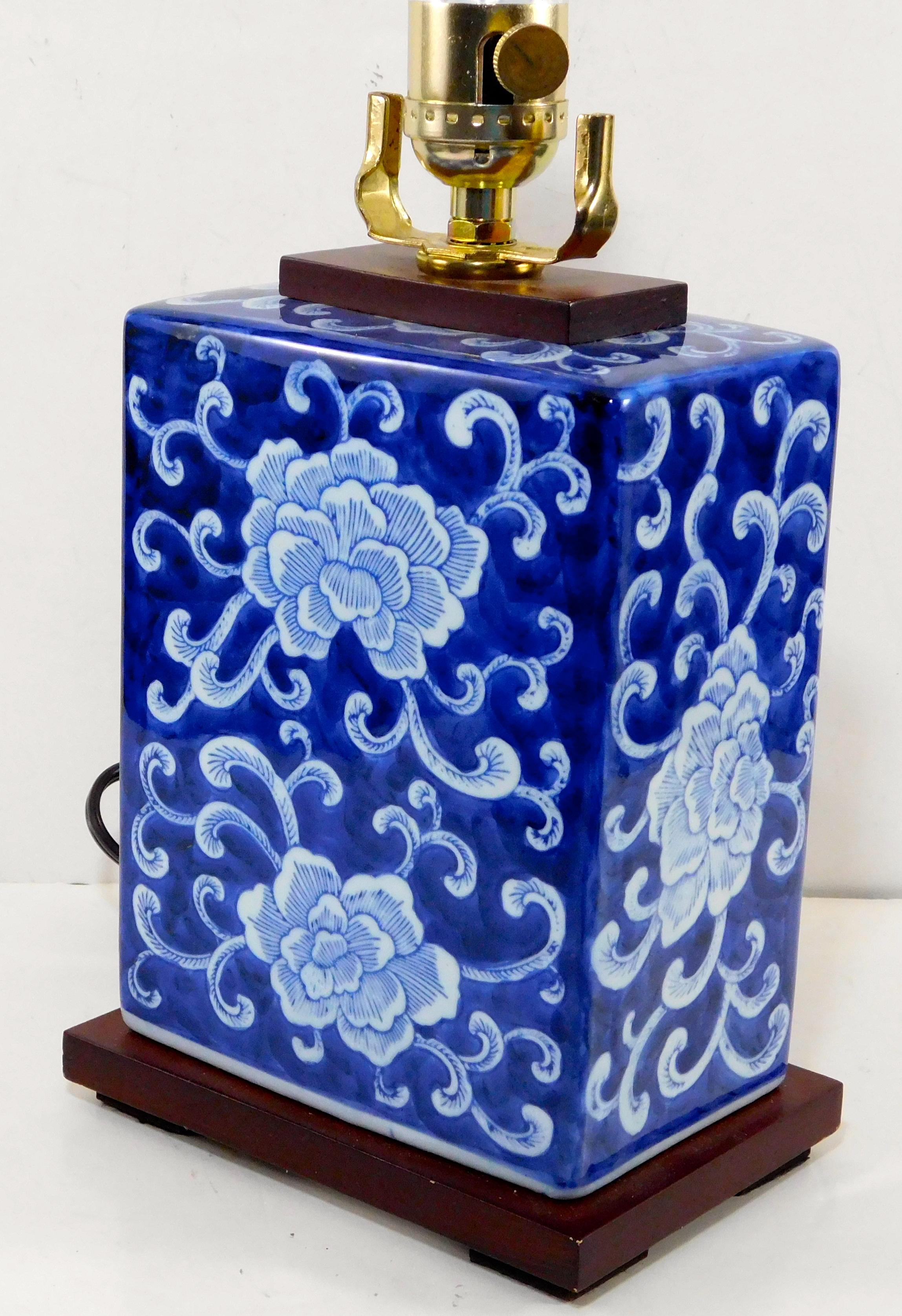 Ralph Lauren Lamp Mandarin Flower Blue Amp White Porcelain